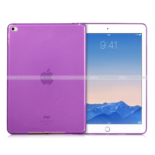 Coque apple ipad air 2 silicone transparent housse pourpre for Housse neoprene ipad air