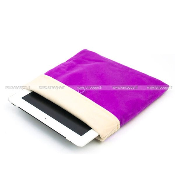 Coque apple ipad air housse pochette tissu pourpre for Housse neoprene ipad air