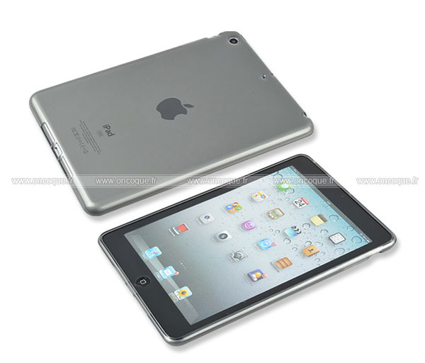Coque apple ipad mini silicone transparent housse gris for Housse i pad mini