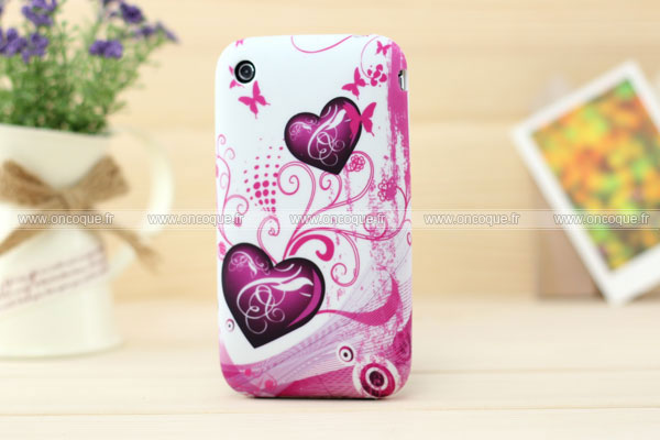 Coque apple iphone 3g 3gs amour silicone housse gel pourpre for Housse iphone 3g