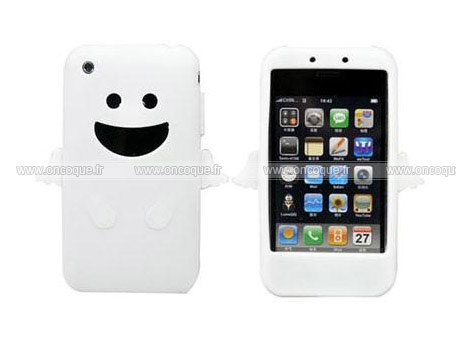 Coque apple iphone 3g ange silicone housse gel blanche for Housse iphone 3gs