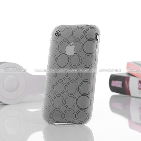 Coque apple iphone 3g cercle gel tpu housse blanche for Housse iphone 3gs
