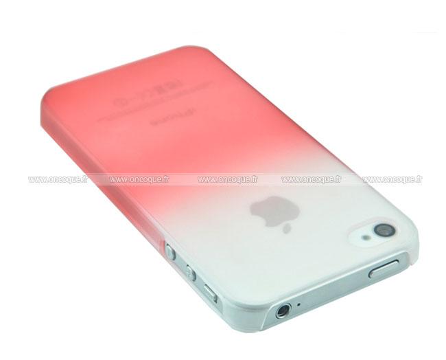 coque apple iphone 4 degrade etui rigide rouge. Black Bedroom Furniture Sets. Home Design Ideas