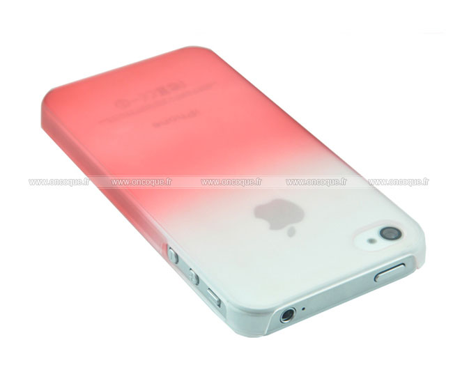 coque apple iphone 4s degrade etui rigide rouge