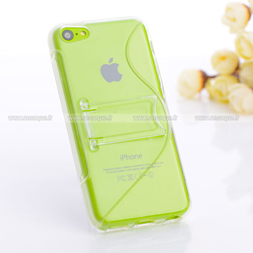 Coque apple iphone 5c s line support housse clear for Housse iphone 5c