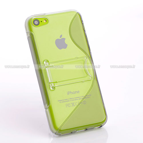 Coque apple iphone 5c s line support housse gris for Housse iphone 5c