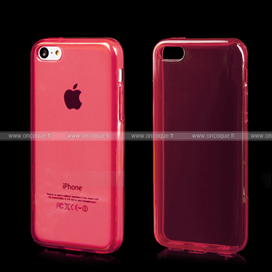 coque apple iphone 5c silicone transparent housse