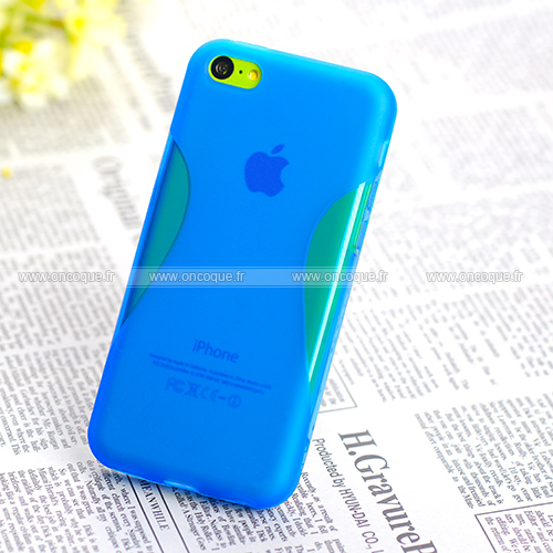 coque apple iphone 5c x style silicone gel housse bleu. Black Bedroom Furniture Sets. Home Design Ideas