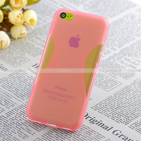 Coque apple iphone 5c x style silicone gel housse rose for Housse iphone 5c