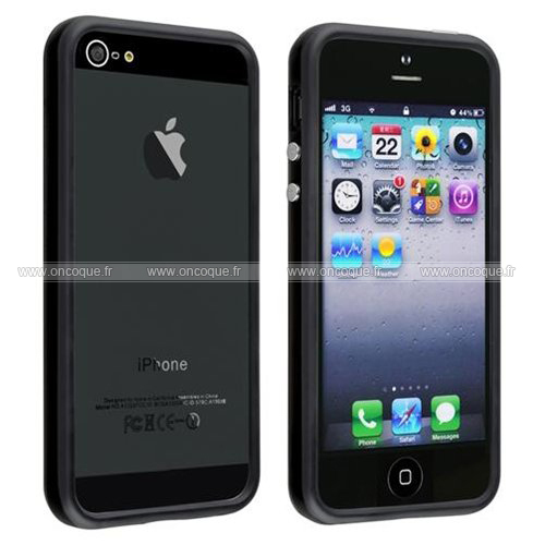 coque apple iphone 5s cadre silicone gel housse noire. Black Bedroom Furniture Sets. Home Design Ideas