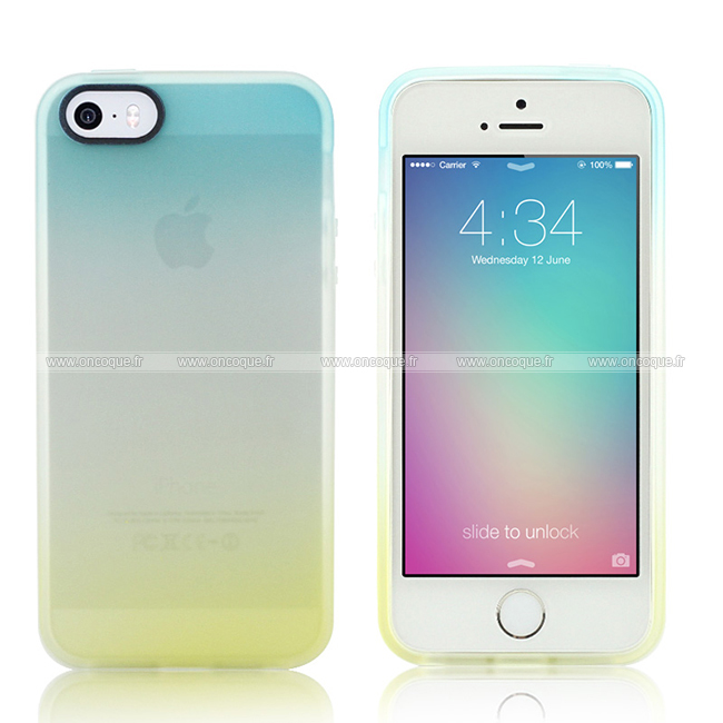 coque apple iphone 5s degrade silicone gel housse jaune. Black Bedroom Furniture Sets. Home Design Ideas