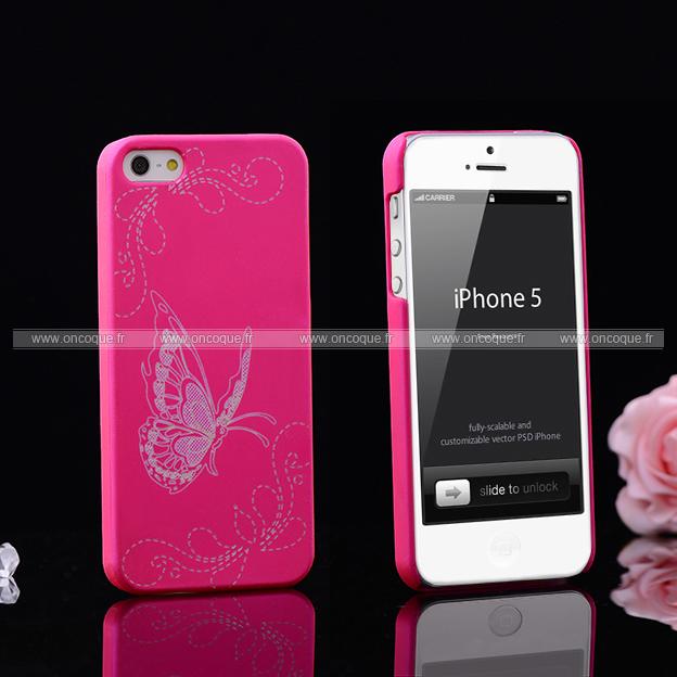 coque apple iphone 5s papillon plastique etui rigide. Black Bedroom Furniture Sets. Home Design Ideas