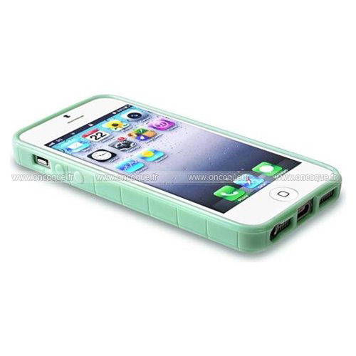 coque apple iphone 5s vague silicone gel housse verte. Black Bedroom Furniture Sets. Home Design Ideas