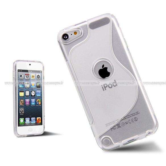 Coque apple ipod touch 5 s line silicone gel housse clear for Housse ipod touch