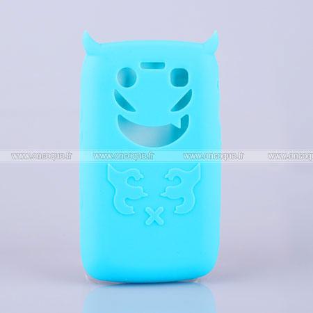 Coque blackberry bold 9700 demon silicone housse gel bleu for Housse blackberry