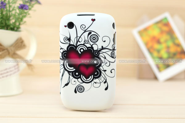 Coque blackberry curve 8520 amour silicone housse gel noire for Housse blackberry curve 9300