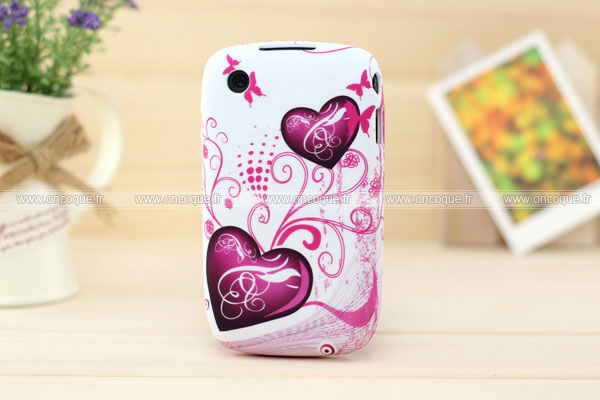 Coque blackberry curve 8520 amour silicone housse gel for Housse blackberry curve 9300