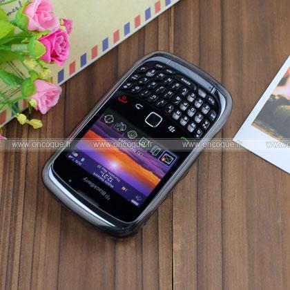 Coque blackberry curve 8520 cercle gel tpu housse gris for Housse pour blackberry curve