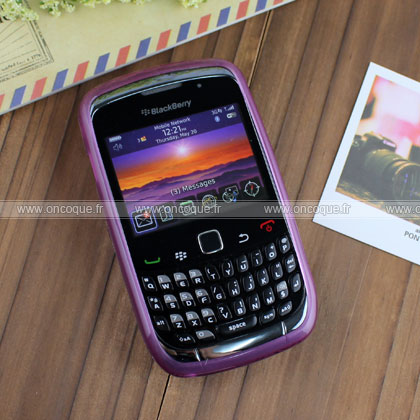 Coque blackberry curve 8520 cercle gel tpu housse pourpre for Housse blackberry curve
