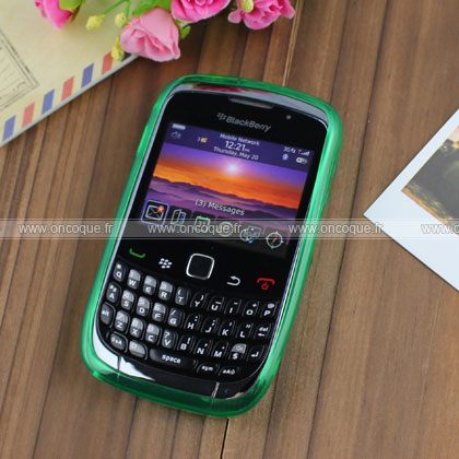 Coque blackberry curve 8520 cercle gel tpu housse verte for Housse blackberry curve