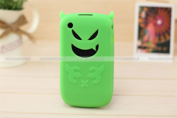 Coque blackberry curve 8520 demon silicone housse gel verte for Housse blackberry curve 9300