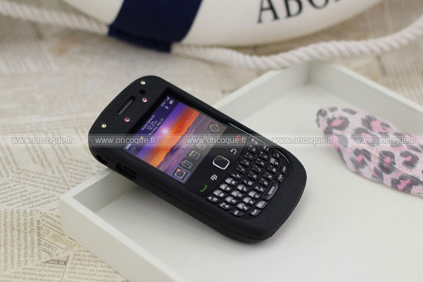 Coque blackberry curve 8520 diamant bling silicone housse for Housse pour blackberry curve