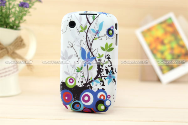 Coque blackberry curve 8520 fleurs silicone housse gel for Housse blackberry curve 9300