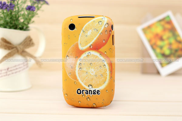 Coque blackberry curve 8520 fruits orange silicone housse for Housse blackberry