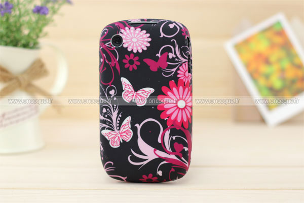 Coque blackberry curve 8520 papillon silicone gel housse for Housse blackberry curve