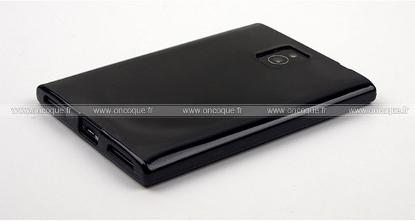 coque blackberry passport q30 silicone gel housse noire. Black Bedroom Furniture Sets. Home Design Ideas