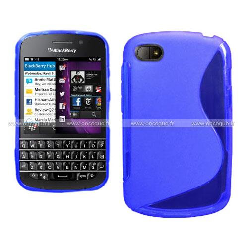 Coque blackberry q10 s line silicone gel housse bleu for Housse blackberry q10