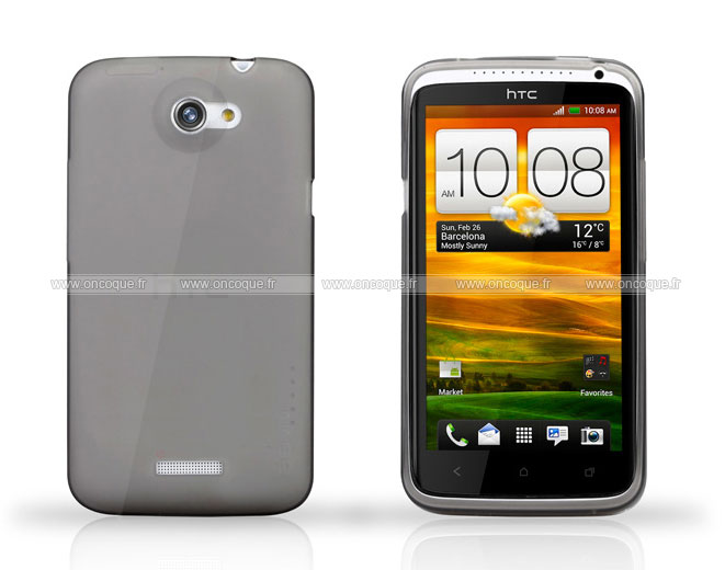 coque htc one x silicone transparent housse