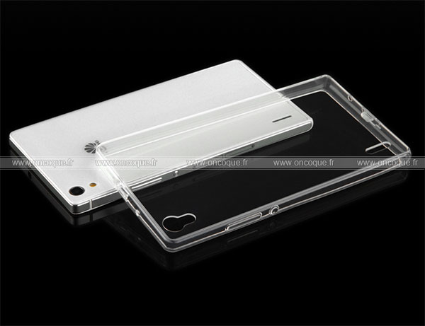 coque huawei ascend p7 silicone transparent housse blanche