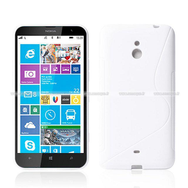 coque nokia lumia 1320 s line silicone gel housse blanche