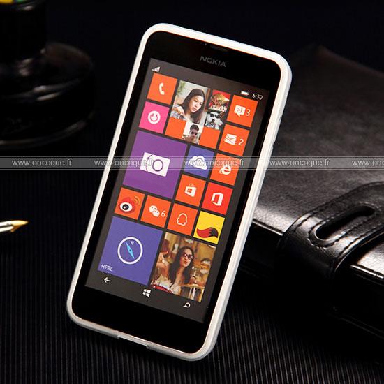 coque nokia lumia 635 x style silicone gel housse blanche