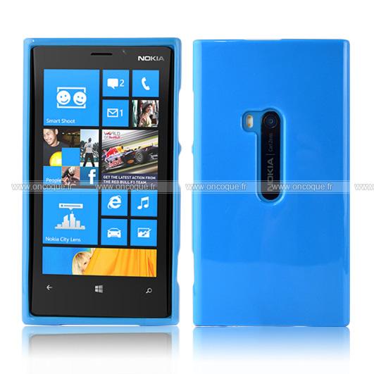 coque nokia lumia 920 silicone gel housse bleu
