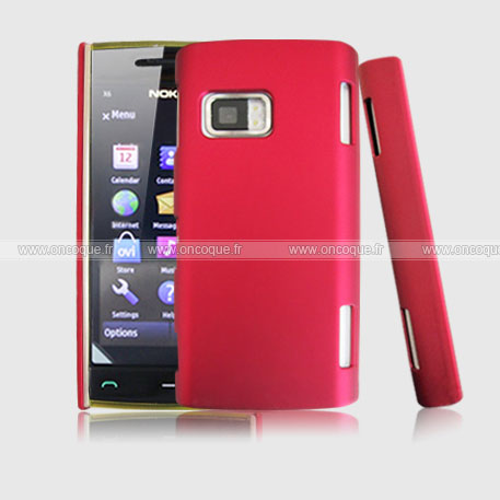 coque nokia x6 plastique etui rigide rouge. Black Bedroom Furniture Sets. Home Design Ideas