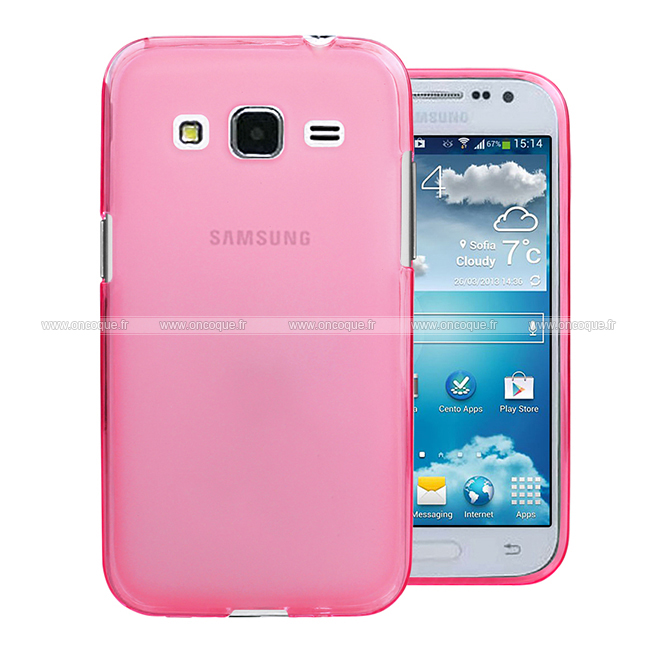 coque samsung galaxy core prime g360h silicone transparent