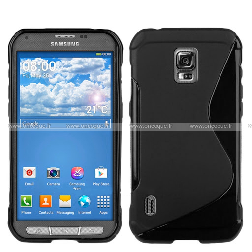Coque samsung galaxy s5 active g870 s line silicone gel for Housse samsung s5