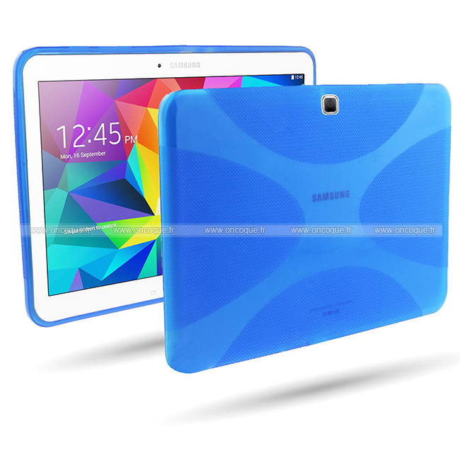 Coque samsung galaxy tab 4 10 1 t530 x style silicone gel for Housse galaxy tab e