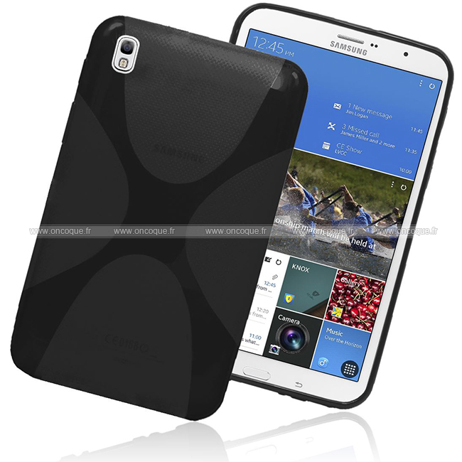 Coque samsung galaxy tab pro 8 4 t3200 x style silicone for Housse galaxy tab e
