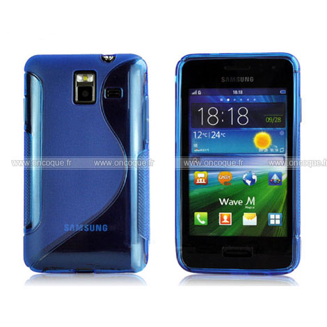 Coque samsung wave m s7250 s line silicone gel housse bleu for Housse samsung wave 2