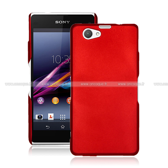 coque sony xperia z1 compact mini plastique etui rigide rouge. Black Bedroom Furniture Sets. Home Design Ideas
