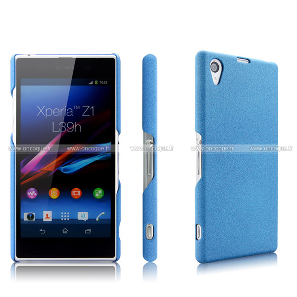 coque sony xperia z1 l39h sables mouvants etui rigide bleu. Black Bedroom Furniture Sets. Home Design Ideas