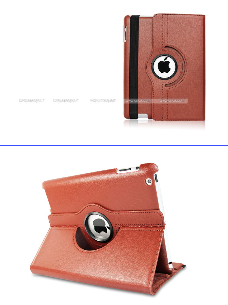 etui en cuir apple ipad 4 housse cover brown On housse ipad 4