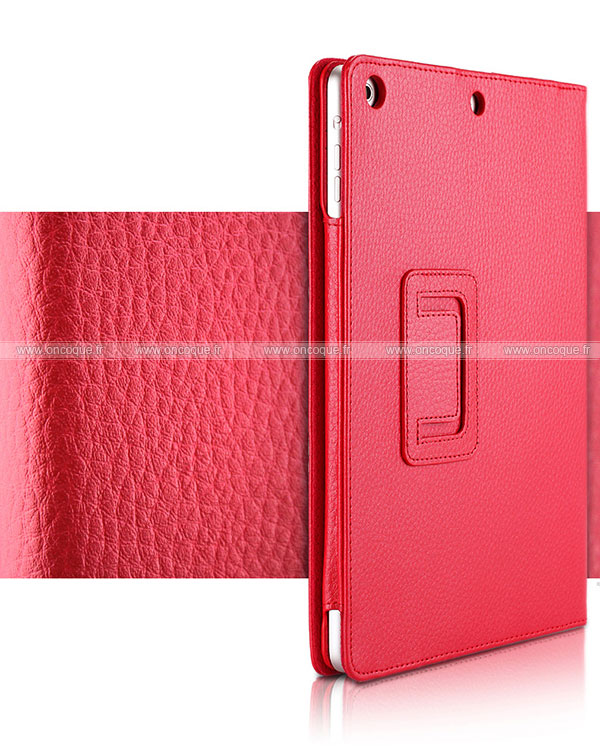 Etui en cuir apple ipad air 2 housse cover rouge for Housse neoprene ipad air
