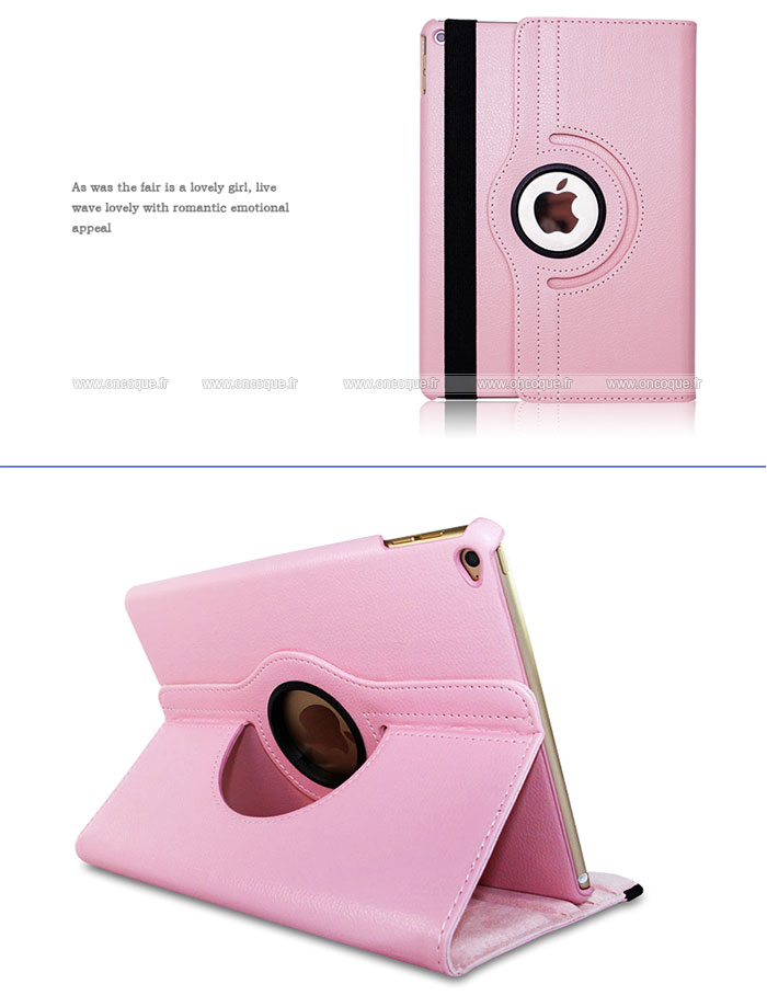 Etui en cuir apple ipad air 2 housse rose for Housse neoprene ipad air