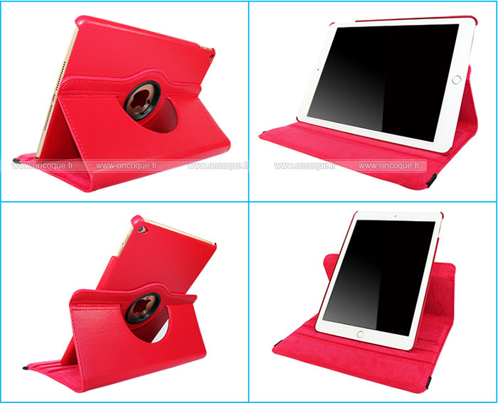 Etui en cuir apple ipad air 2 housse rouge for Housse neoprene ipad air