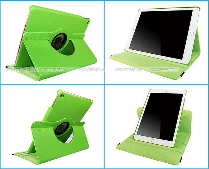 Etui en cuir apple ipad air 2 housse verte for Housse neoprene ipad air