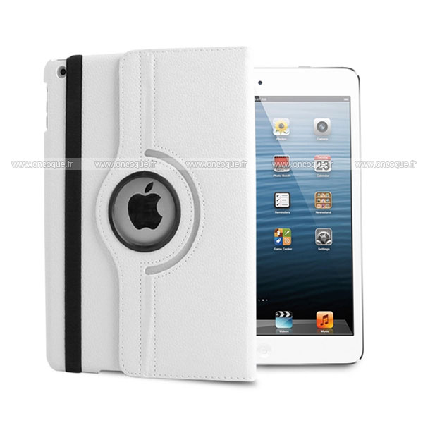 Etui en cuir apple ipad air housse cover blanche for Housse neoprene ipad air